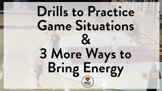 Practicing Game Situations & Bringing Energy   Week 6   PGC Coaches Circle   Powered by TeamSnap