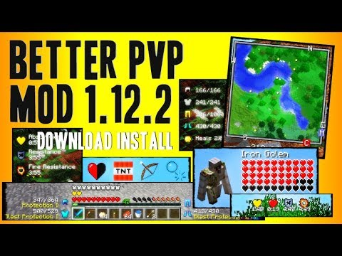 BETTER PvP MOD 1.12.2 minecraft - how to download and install better PvP mod 1.12.2 (with forge)