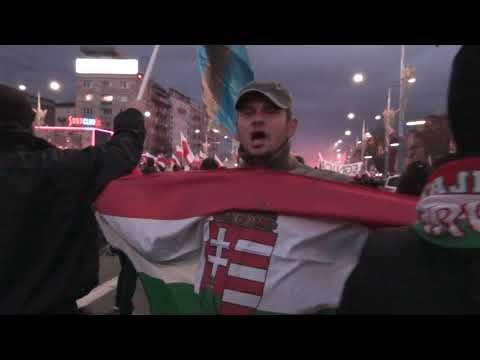 11.11.2017 Bracia Węgrzy Na Marszu Niepodległości W Warszawie