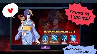 Touka in Yukata! First Summerfest SSR release Tokyo Ghoul Dark War