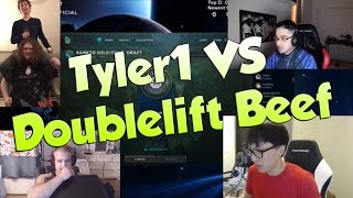 League of Legends Funny Stream Moments #38 - TYLER1 VS DOUBLELIFT BEEF!