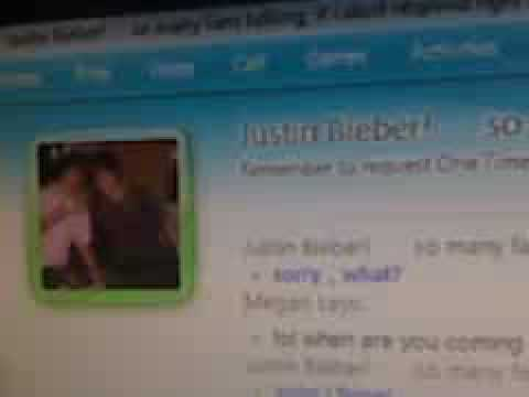 JUSTIN BIEBER SINGIN TO ME ON MSN (kk)