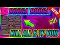 ROBLOX NEW HACK SCRIPT BOOGA BOOGA GUI, KILL ALL, TP VOID, CRAFT ANY ITEM, AND MUCH MORE!