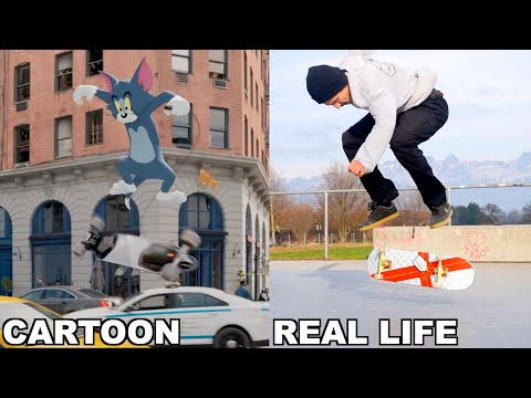Landing Tom and Jerrys IMPOSSIBLE Trick in REAL LIFE