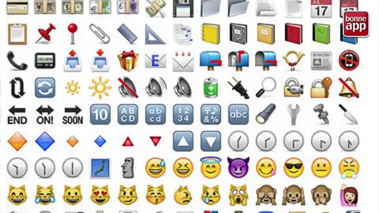 Profiter des emoticones sur le clavier de l'iPhone - YouTube