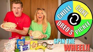 Mystery SPIN THE WHEEL of pizza challenge!!