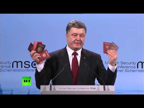 Poroshenko presents 'proof of Russian involvement' in Ukraine war at Munich Security Conference