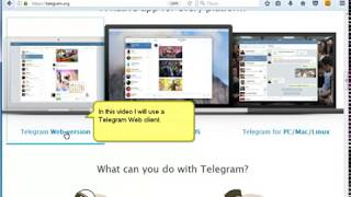How to register the account in Telegram messenger.