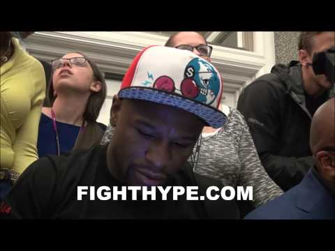 FLOYD MAYWEATHER AND LEONARD ELLERBE EXPLAIN FAN POLL AND CHOOSING MAIDANA OVER KHAN