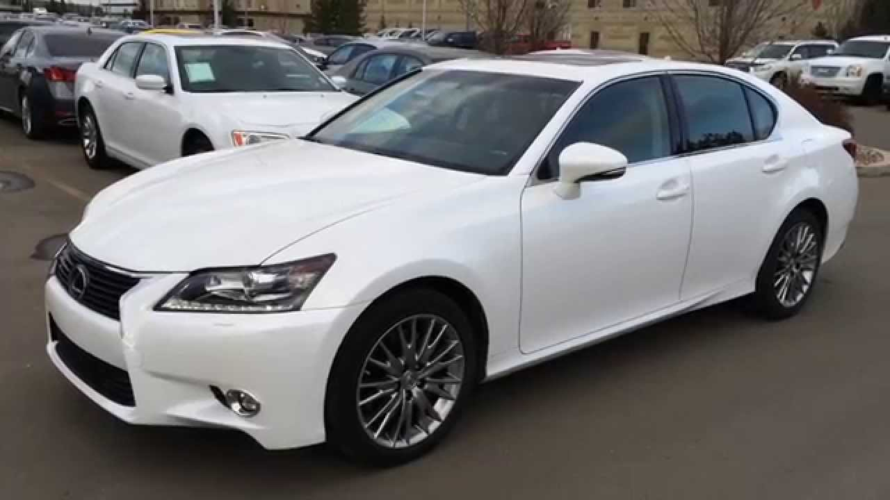 white on black executive demo 2014 lexus gs 350 awd technology package review calgary ab. Black Bedroom Furniture Sets. Home Design Ideas