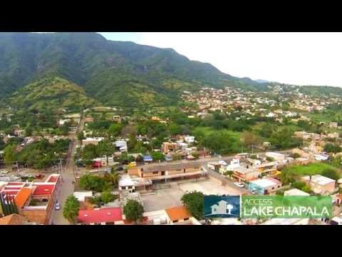 Aerial: San Juan Cosala & Raquet Club, Lake Chapala Mexico