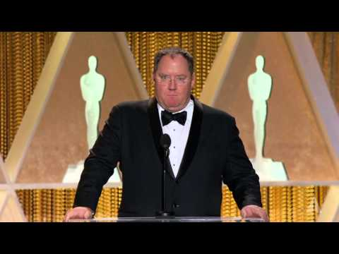 John Lasseter honors Hayao Miyazaki at the 2014 Governors Awards