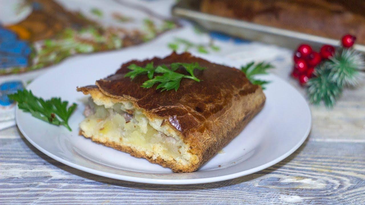 Дрожжевой пирог с мясом и картошкой в духовке пошаговый рецепт