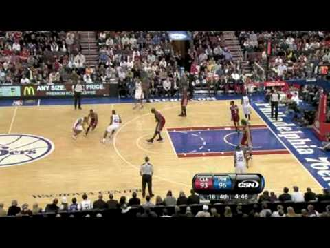 Cavaliers vs Sixers (NBA Highlights) 12/16/2009