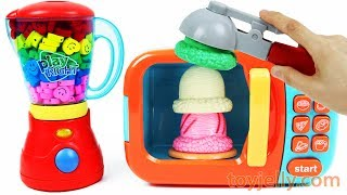 Microwave Just Like Home Smiley Candy Blender Machine Ice Cream Learn Colors Baby Finger Family Song