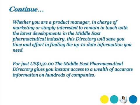 Bharat book Presents: Middle East Pharmaceutical Directory 2013