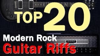 Top 20 Modern Rock Guitar Riffs/Intros from 90s-2000s