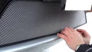 Видео: Установка защиты радиатора Mitsubishi L 200 серебро