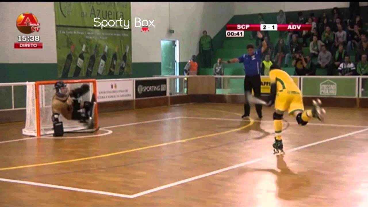 Hoquei Patins :: 02J :: Sporting - 4 x Valongo - 1 de 2014/2015
