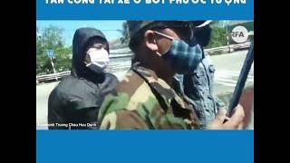 Nhóm tài xế phản đối BOT bị côn đồ bịt mặt dùng gậy 3 khúc tấn công
