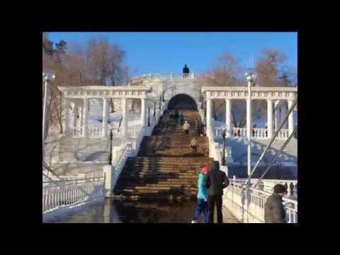 Мост через Урал, соединяющий Европу и Азию. Оренбург.
