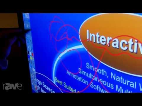 E4 AV Tour: Panasonic Demos 50-Inch TH-50PB2 Interactive Plasma Display with High Accuracy