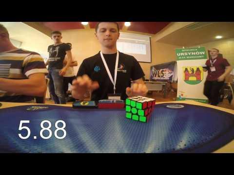 Rubik's cube average: 6.45 seconds [former world record]