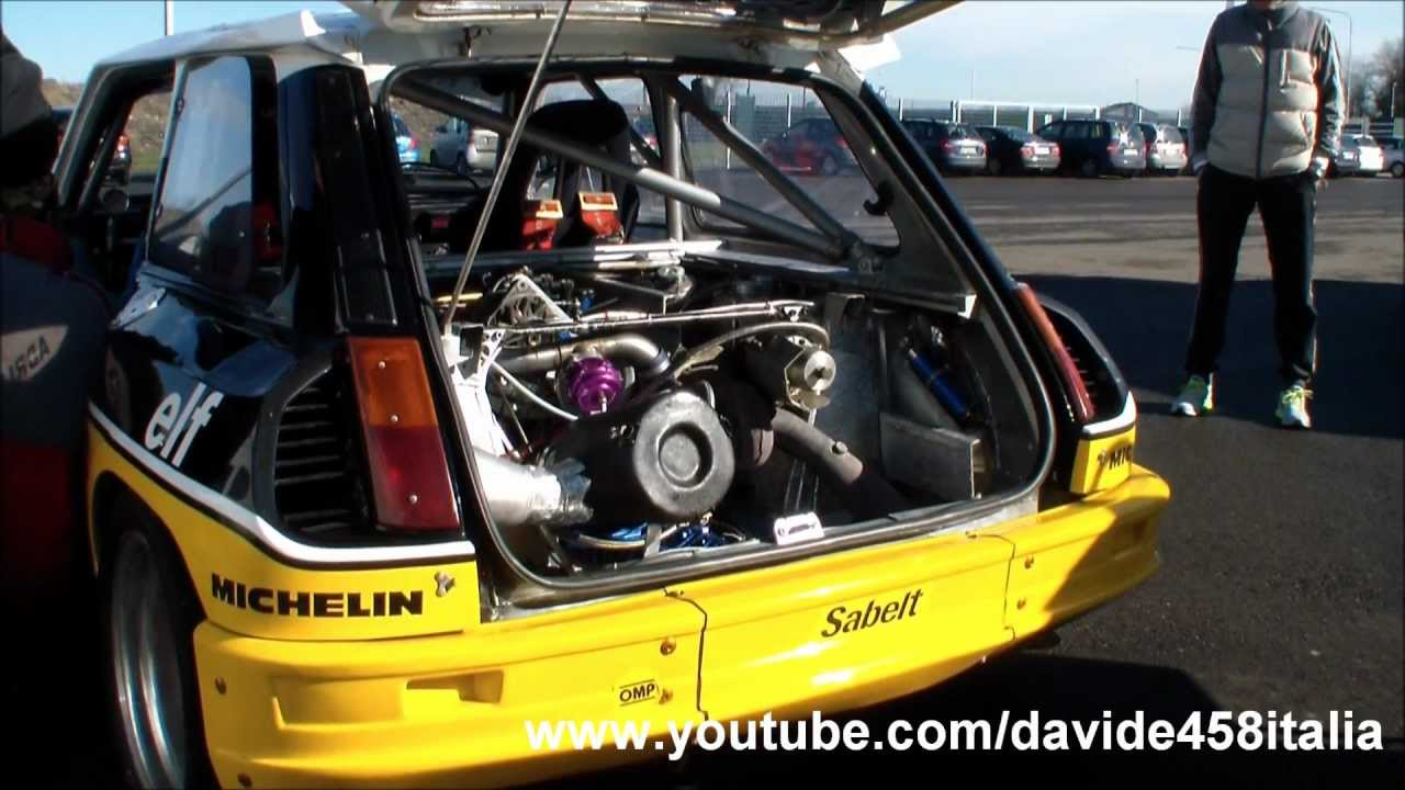 Renault 5 Maxi Turbo Pure Sound Start Up Revs And Track