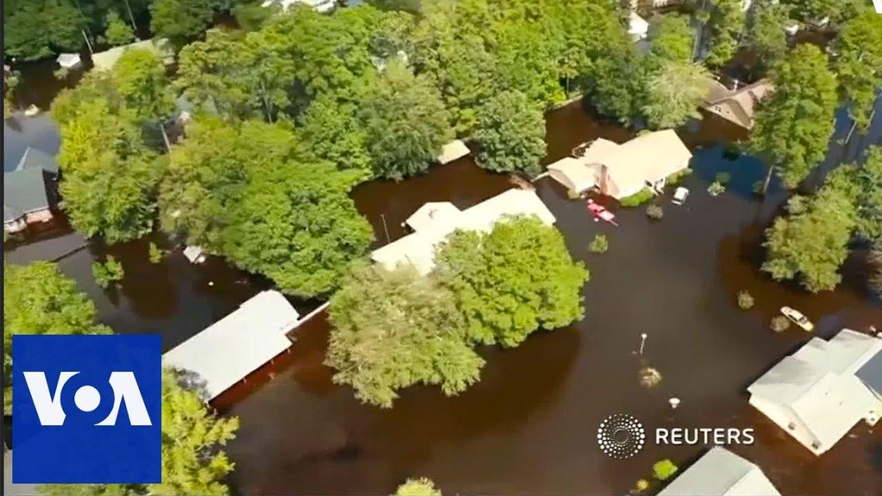 A bird's-eye view of North Carolina under water