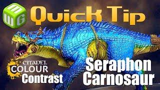 Using the New Citadel Colour Contrast Paints on a Seraphon Carnosaur