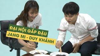 Duy Khánh, Jang Mi 'loạn não' khi phải vừa gắp đậu vừa hát hit 'Khóc' của Đông Nhi