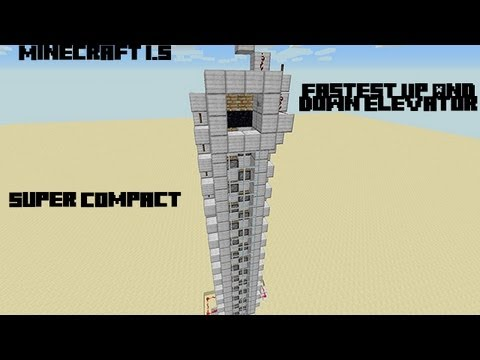 Minecraft 1.8 Fast Up and Down Elevator-[Compact][Easy To Build]