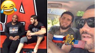 Khabib Roasts DC and Islam 🤣 | Islam and Derron Debate USA vs RUSSIA Wrestling 🤼♂️