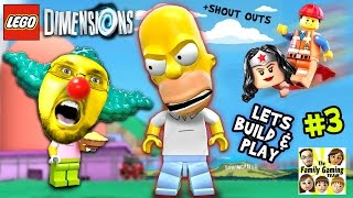 Lets Build & Play LEGO Dimensions # 3: MONSTER HOMER in Springfield