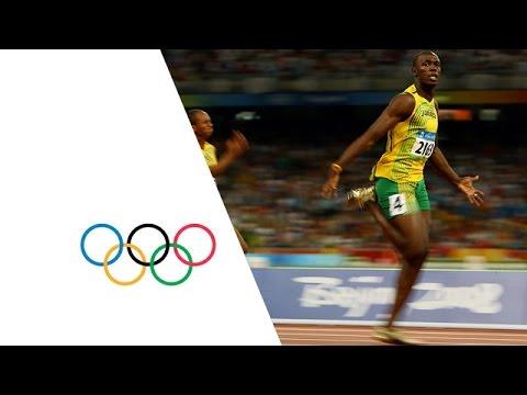 Usain Bolt Breaks 3 World Records   Beijing 2008 Olympics