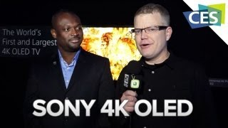 Sony 4K OLED - CES 2013