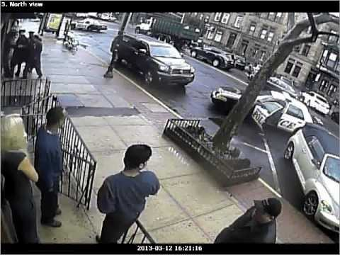 Hoboken NJ screw driver attack caught on film! Start watching top left of video after 1:10