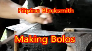 Filipino Blacksmith - Making Bolos