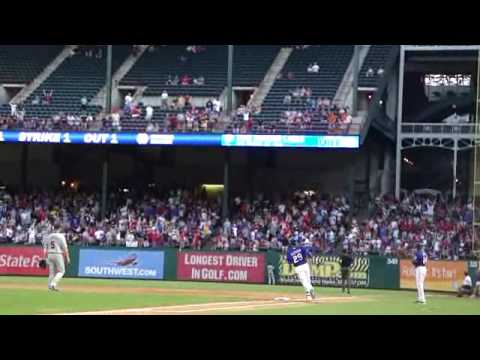 Julio Borbon First Major League Homerun Video
