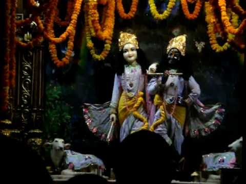 Vrindavan Mangala Arati On 10 Nov.mpg video