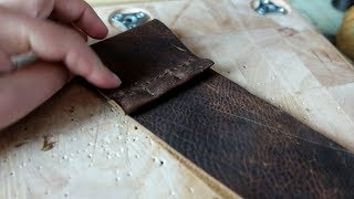 Making a Leather Pencil Case in the #Makerspace - Vlog 3