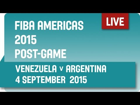 Post-Game: Venezuela v Argentina - Group B -  2015 FIBA Americas Championship