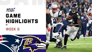 Patriots vs. Ravens Week 9 Highlights | NFL 2019