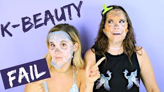 Testing Weird Korean Beauty Products! (TRY THE TREND) | Hollywire
