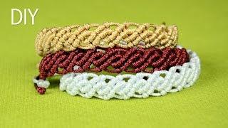 DIY Wavy Macrame Bracelets