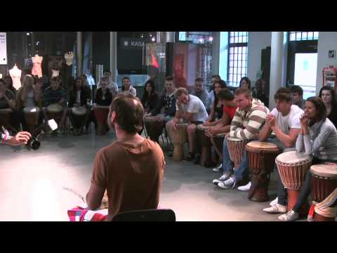 Team-building through drumming for