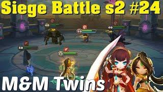 Summoners War - Siege s2 #24 The M&M Twins, Maruna and Melissa in Siege Battle!!!
