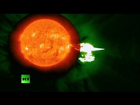 Stunning: Sun emitting solar flares captured on NASA video