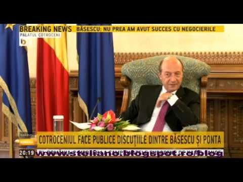 Discuţiile de la Cotroceni dintre Traian Băsescu, Ponta şi Ioana Petrescu
