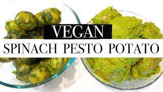VEGAN SPINACH PESTO POTATOES / MOM OF 10